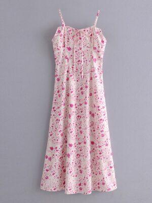 Eunha – GFriend Floral Print Sleeveless Dress (16)