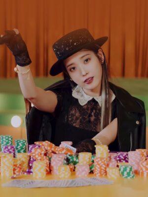 Black Doll Lace Dress   IU
