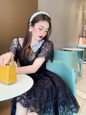 IU- Black Doll Lace Dress (9)