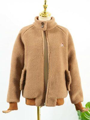 IU – Brown Wool Plush Jacket (9)