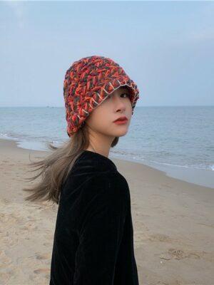 IU – Orange Woolen Fisherman Hat (15)