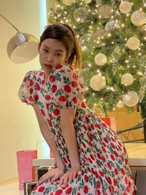 Pleated Floral Print Mini Dress | Jennie – BlackPink