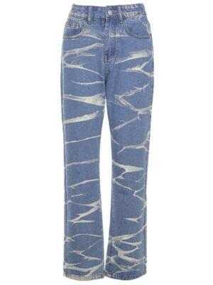 Jennie – Blackpink Blue Acid-Wash Jeans (1)