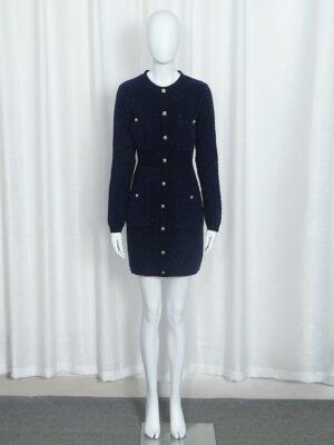Jennie – Navy Blue Long Sleeve Dress (6)