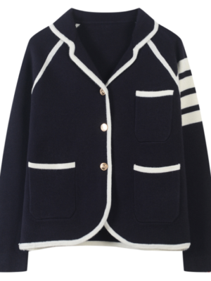 Jin – BTS Navy Blue Suit Jacket With Pockets (4)