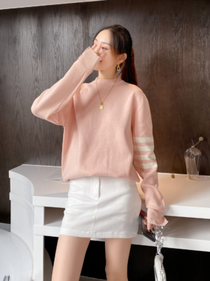 Jin – BTS Pastel Pink Knitted Sweater (33)