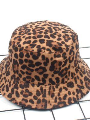 Jisoo – BlackPink Leopard Print Bucket Hat (7)