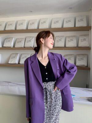 Joy – Red Velvet Lilac Suit Jacket (1)