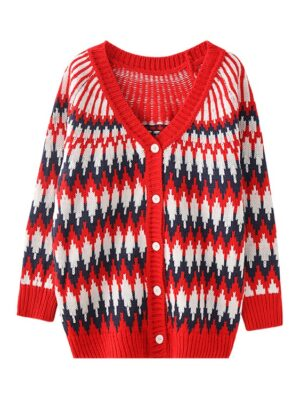 Jungkook – BTS Zigzag Pattern Knitted Cardigan (10)
