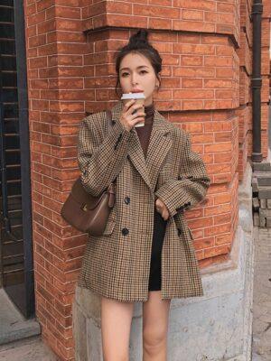 Lim Joo Kyung – True Beauty Brown Plaid Suit Jacket (21)