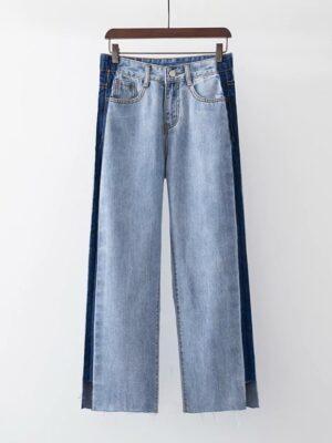 Ryujin – ITZY Side Line Blue Denim Jeans (6)