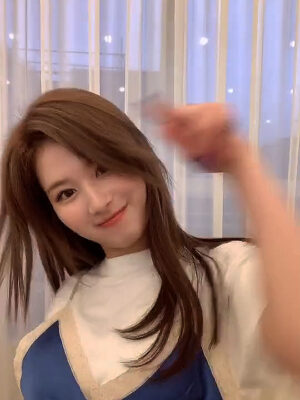 T-Shirt With Blue Satin Sling Top | Sana – Twice