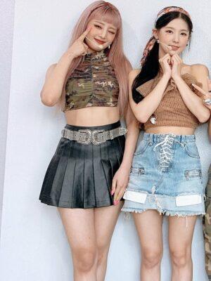 Black Leather Pleated Mini Skirt | Minnie – (G)I-DLE