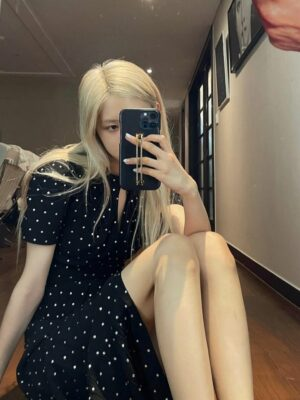 Black Polka Dot Midi Dress | Rose – BlackPink