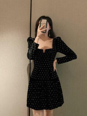 Black Velvet Mini Dress Tiffany – Girls Generation 5