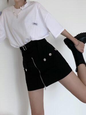Black Zippered Mini Skort Jeongyeon – Twice 3