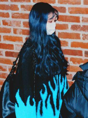 Blue Flame Sweater | Karina – Aespa
