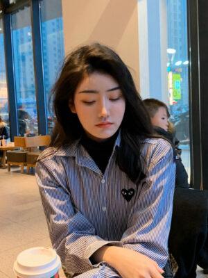 Blue and White Bengal Stripe Shirt Jooheon – MONSTA X 3