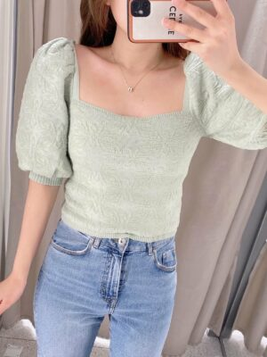 Green Embroidered Crop Top Seohyun – Girls Generation 05