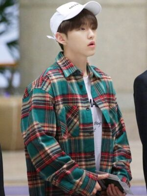 Long Sleeve Brushed Plaid Shirt | Hoshi – Seventeen