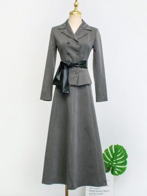 IU – Hotel Del Luna Grey A-Line Skirt (6)