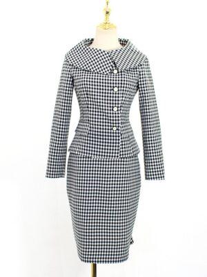 IU – Hotel Del Luna Retro Style Plaid Suit Jacket (11)
