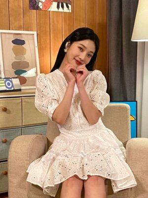 White Puff Sleeve Lace Dress | Joy – Red Velvet
