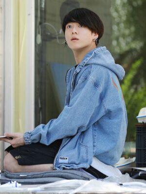 Blue Denim Hooded Jacket | Jungkook – BTS