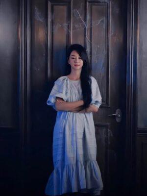 Blue Ruffled Hem Midi Dress | Ko Moon‑Young – It's Okay Not To Be Okay