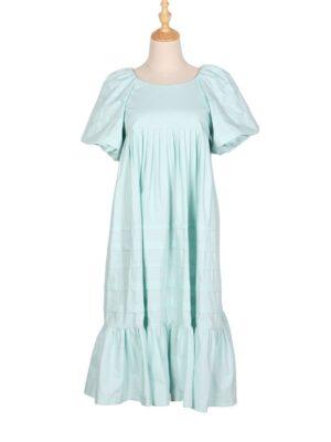Ko Moon‑Young – It's Okay Not To Be Okay Blue Ruffled Hem Midi Dress (4)