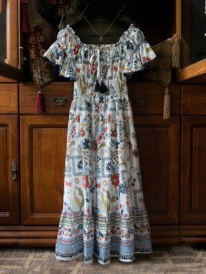 Mina – Twice Floral Patterned Off-Shoulder Dress (15)