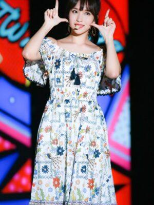 Floral Patterned Off-Shoulder Dress | Mina – Twice