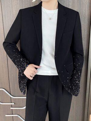 Minnie – (G)I-DLE Splash Ink Black Suit Jacket (29)