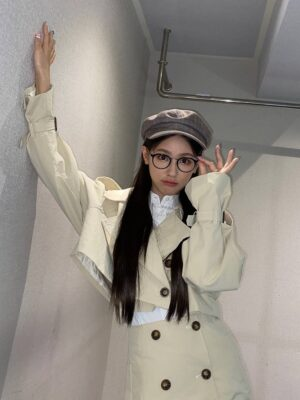 Brown Plaid Beret Hat | Miyeon – (G)I-DLE