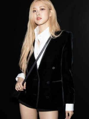Black Velvet Suit Jacket | Rose – BlackPink