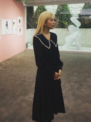 Doll Collar Navy Blue Dress | Seulgi – Red Velvet