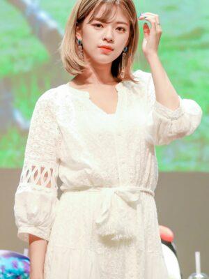White Bohemian Summer Dress | Jeongyeon – Twice
