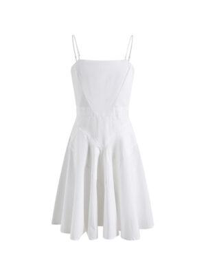 White Fit and Flare Mini Dress Nayeon – Twice 14