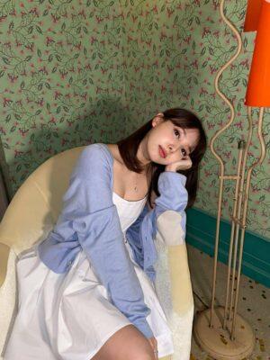 White Fit and Flare Mini Dress | Nayeon – Twice
