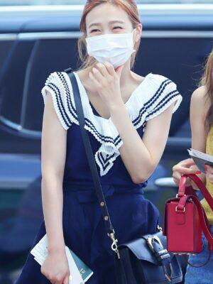 White Frill Black A-line Dress | Joy – Red Velvet
