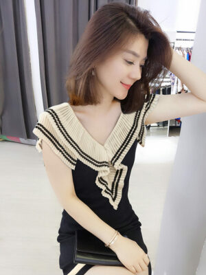 White Frill Black A-line Dress Joy – Red Velvet 3