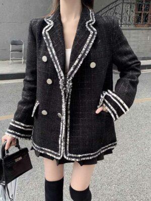 Black Outline Tweed Coat Yeri – Red Velvet 10