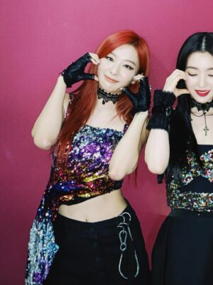 Black Punk Lace Gloves | Seulgi – Red Velvet