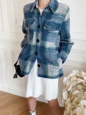 Blue Plaid Loose Jacket Jinhwan – iKON 4