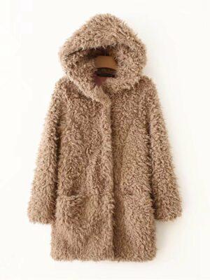 Brown Faux Fur Coat Seulgi – Red Velvet 01
