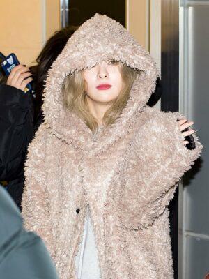 Brown Faux Fur Coat | Seulgi – Red Velvet