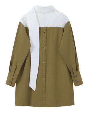 Brown Loose Scarf Shirt Yuri – Girls Generation 5