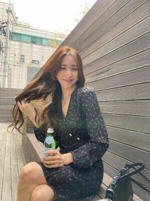 Floral Single-Breasted Wrap Dress | Tiffany – Girls Generation