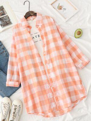 Haechan – NCT Orange Checkered Shirt (8)