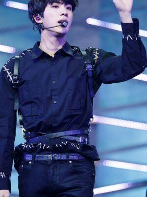 Black Suspender Criss Cross Waist Harness   Jin – BTS